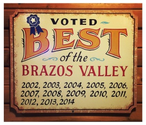 C&J BBQ has been repeatedly voted Best of the Brazos Valley for BBQ.