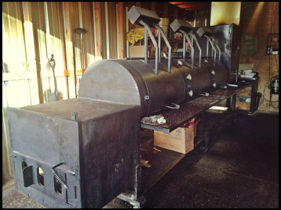One of two custom Klose BBQ pits at Stiles Switch BBQ & Brew.