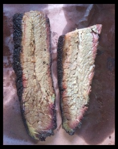 The brisket at La Barbecue appears somewhat dry, but make no mistake, this is seriously tender and juicy!