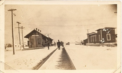 Thrall Depot - February 25, 1924.