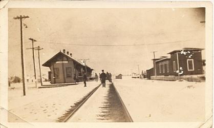 Thrall Depot - February 25, 1924.