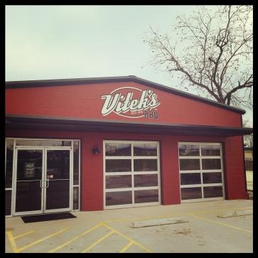 Vitek's BBQ on Speight Ave. in Waco, Texas.