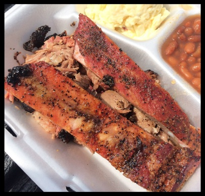 The ribs at Lew's BBQ are fantastic!