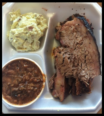 The beans and potato salad made a HUGE impression, with the beans being the very best item sampled at Bet the House BBQ.