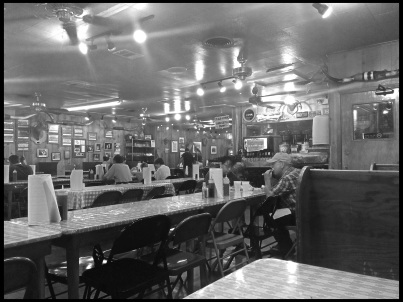 Black's Barbecue has a clean, rustic, and fun atmosphere.